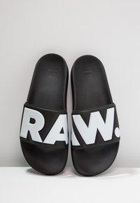 G-Star - RAW CART SLIDE II - Mules - black/white - 5