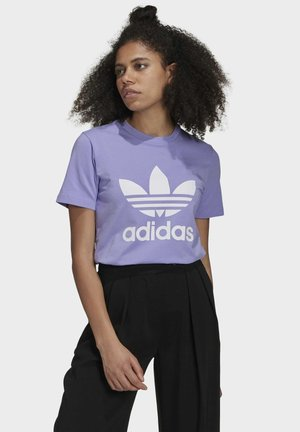 TREFOIL TEE - T-shirt z nadrukiem - light purple