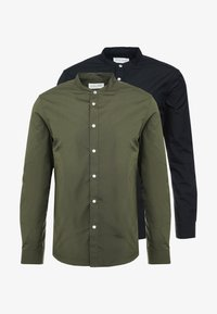 2 PACK - Shirt - oliv/black