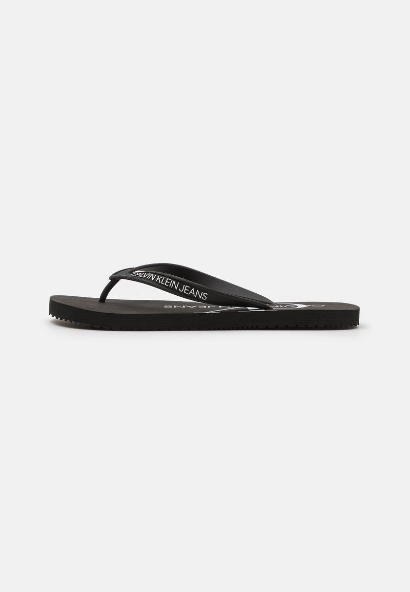 Calvin Klein Jeans - BEACH MONOGRAM  - Pool shoes - black