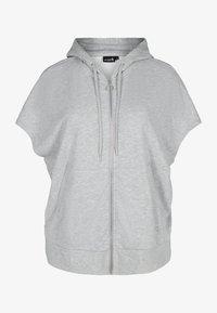 Active by Zizzi - Zip-up sweatshirt - light grey melange - 3