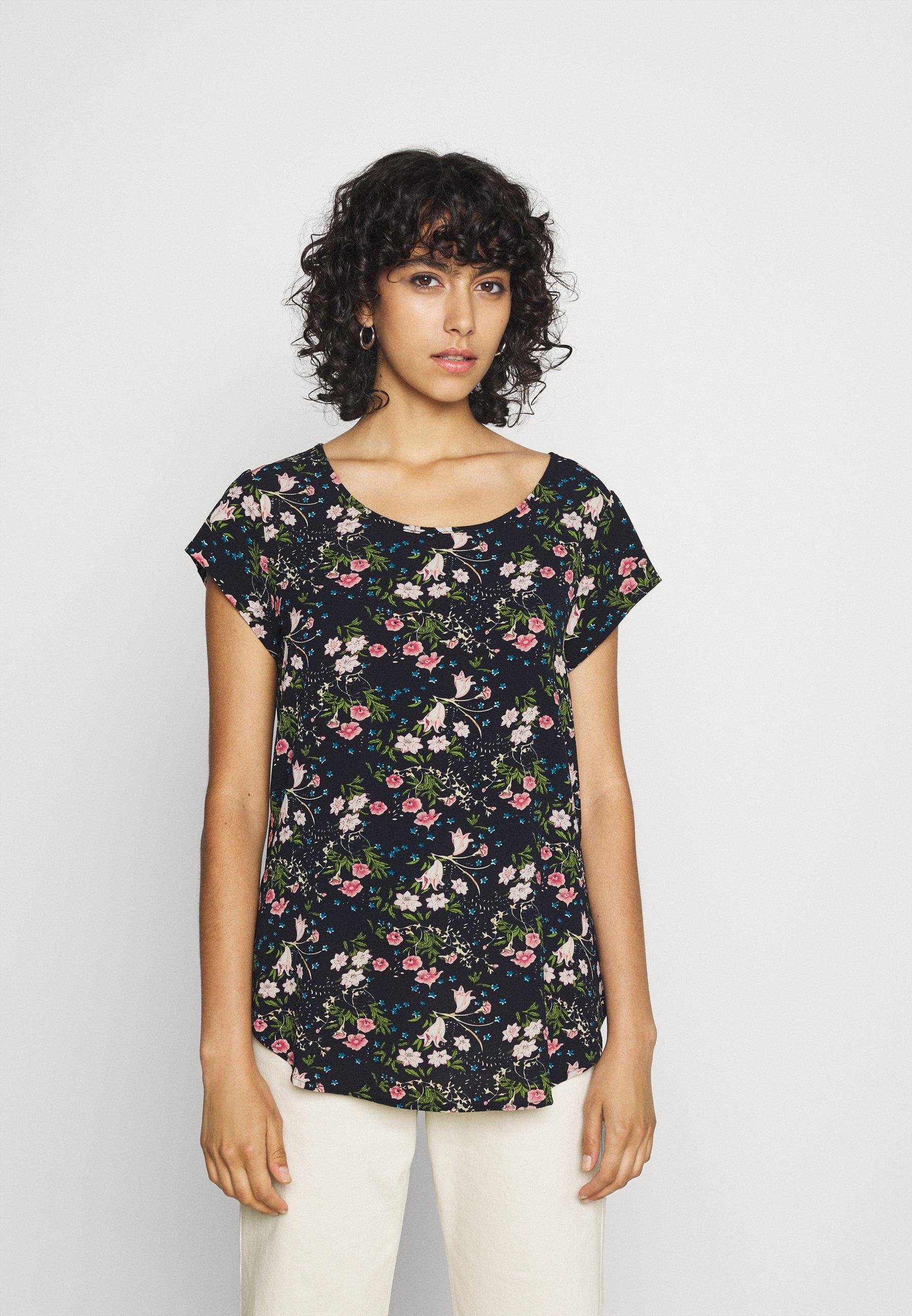 Femme ONLNOVA LUX - T-shirt imprimé - black/venus