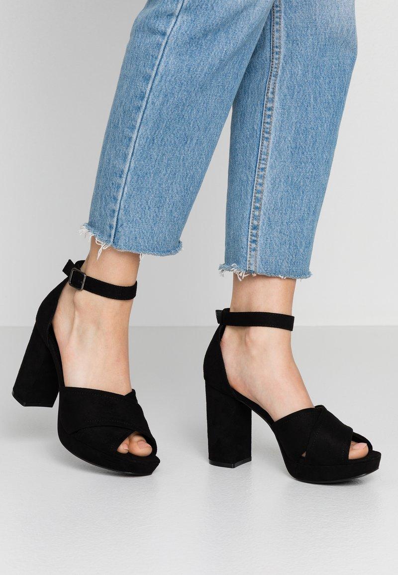 PARFOIS - Højhælede sandaletter / Højhælede sandaler - black