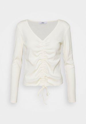ONLMAYA ROUCHING  - Long sleeved top - cloud dancer