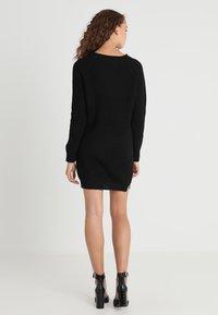 Noisy May - NMSIESTA O NECK DRESS - Strikket kjole - black - 2