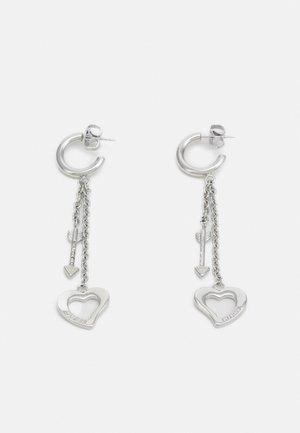 ACROSS MY HEART - Earrings - silver-coloured