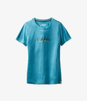Print T-shirt - light ocean abyss heather