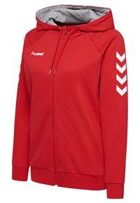 Hummel - HMLGO - Zip-up sweatshirt - true red - 2
