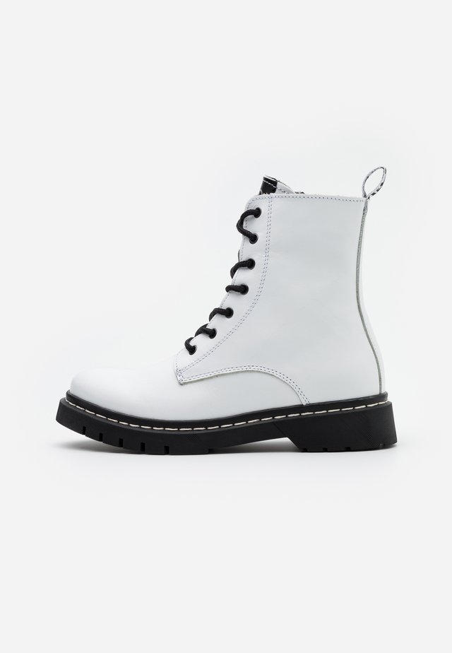 BOOTS - Lace-up ankle boots - white