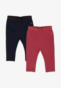 s.Oliver - 2 PACK - Leggings - Trousers - dark blue/pink - 0