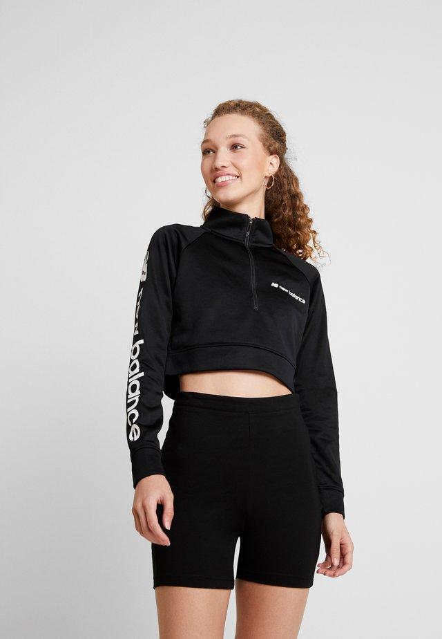 SPORT STYLE OPTIKS CROPPED ZIP - Sweatshirt - black