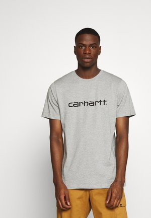 SCRIPT - T-shirts med print - grey heather/black