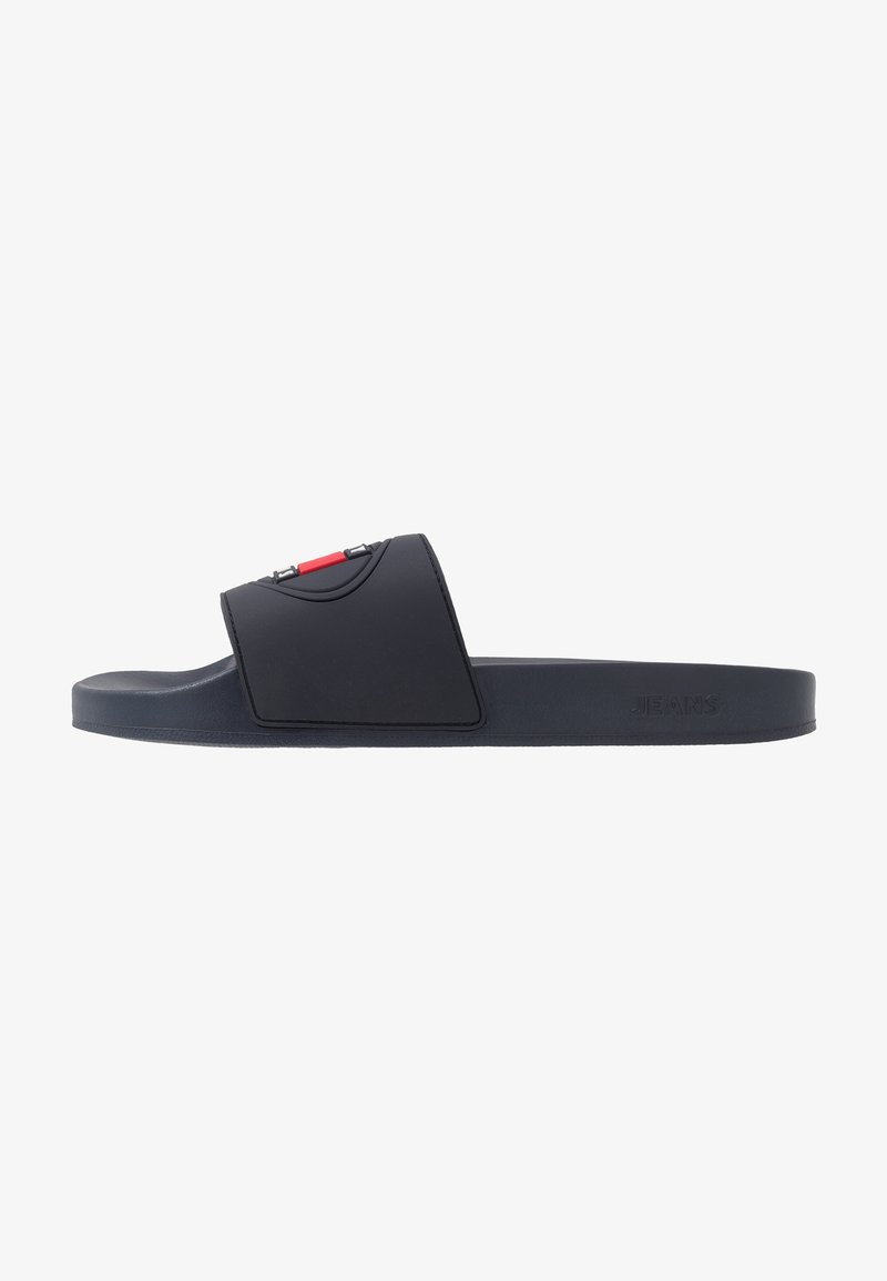 Tommy Jeans - SEASONAL FLAG SLIDE - Slip-ins - blue