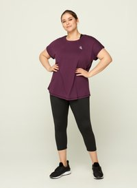 Active by Zizzi - T-shirt print - purple - 1