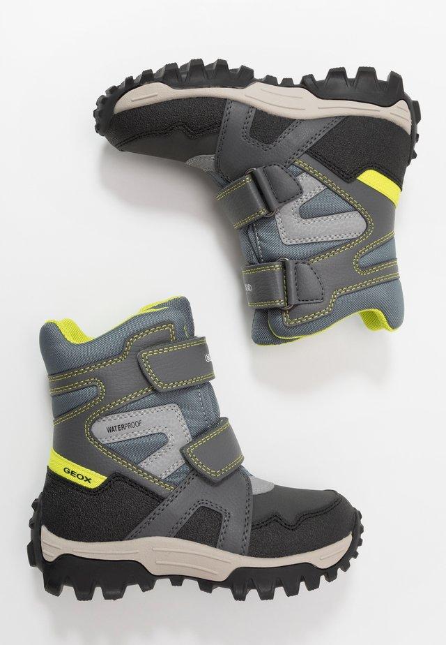 HIMALAYA BOY  - Winter boots - grey/lime