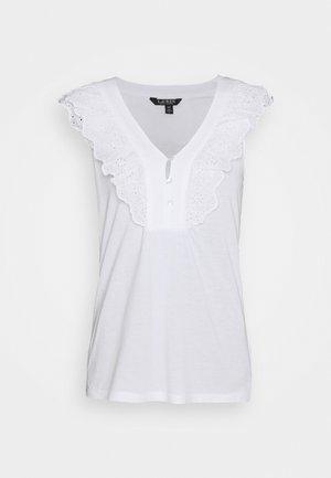 BIZETH SLEEVELESS - Jednoduché triko - white