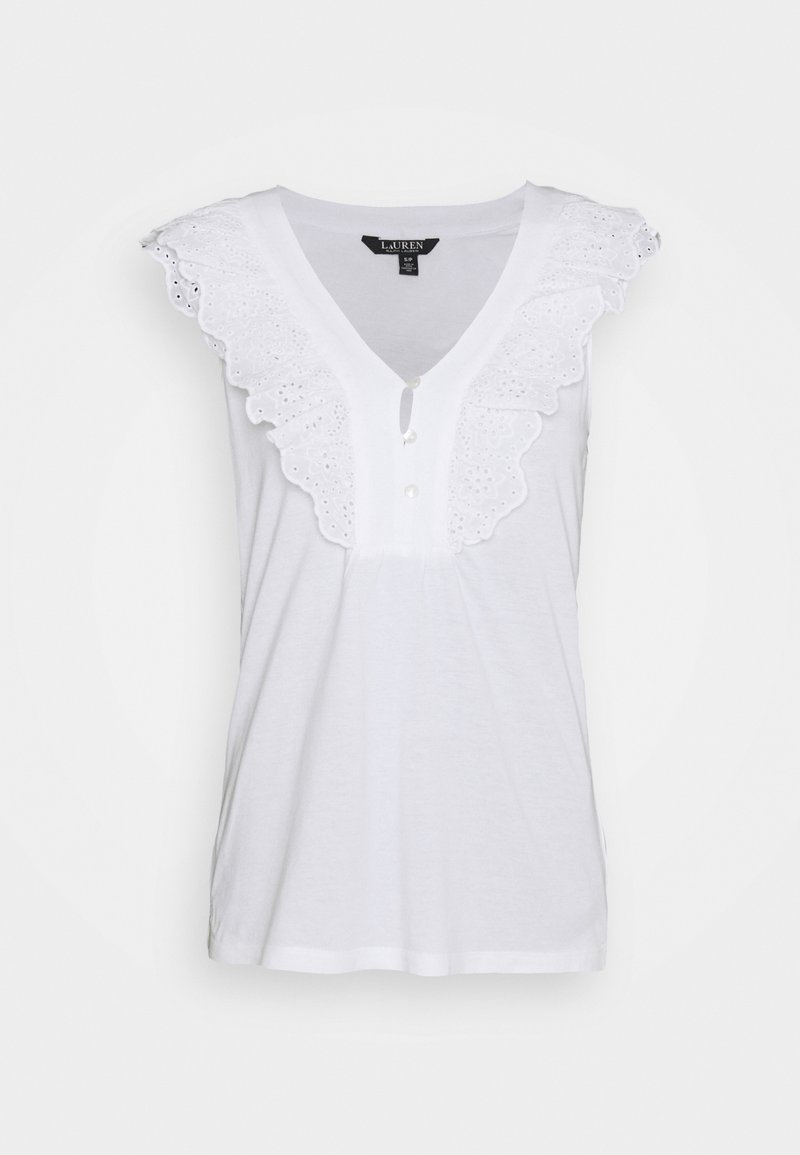 Lauren Ralph Lauren - BIZETH SLEEVELESS - Basic T-shirt - white