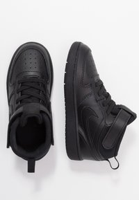 Nike Sportswear - COURT BOROUGH MID UNISEX - Sneakersy wysokie - black - 0