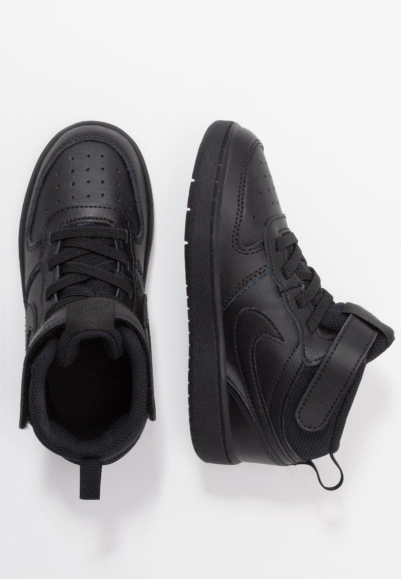 Nike Sportswear - COURT BOROUGH MID UNISEX - Sneakersy wysokie - black
