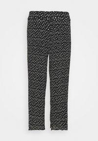 Simply Be - WIDE LEG PLISSE TROUSERS - Pantaloni - black - 4