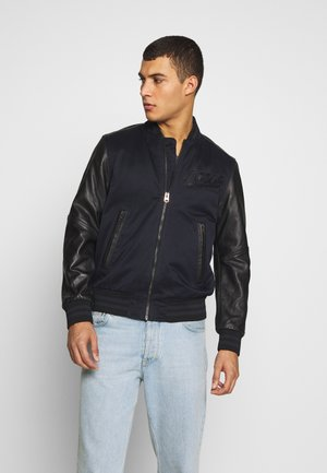 ALLOX LEATHER PM BOMBER - Leather jacket - mazarine blue