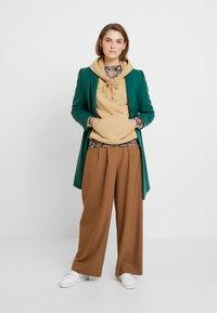 Benetton - CLASSIC TAILORED COAT - Kappa / rock - dark green - 1