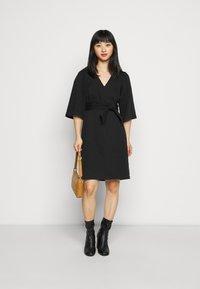 Vero Moda Petite - VMFAYE SHORT DRESS  - Day dress - black - 1