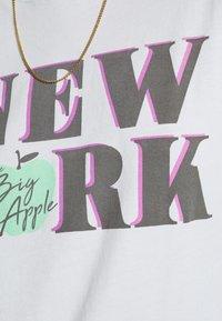 American Eagle - NEW YORK DINER OVERSIZED TEE - Print T-shirt - blue - 5