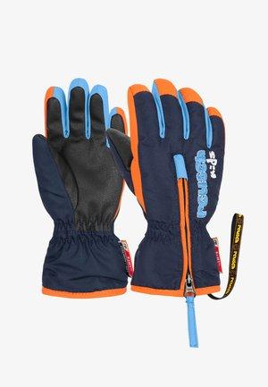 BEN - Gloves - dress blue/orange popsicle