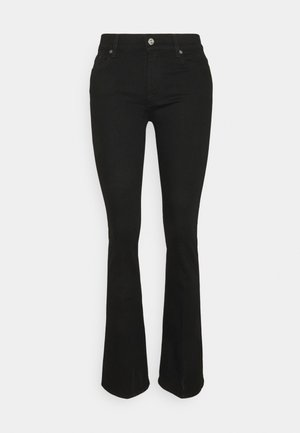 BOOTCUT RINSED - Jeans bootcut - black