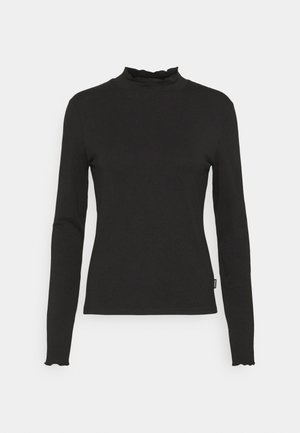 LONGSLEEVE HIGH NECK - Long sleeved top - black