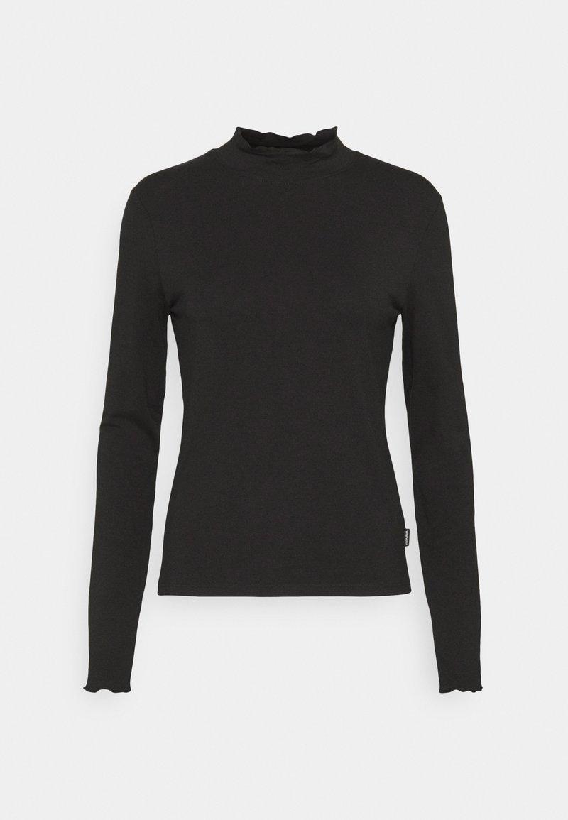 Wrangler - LONGSLEEVE HIGH NECK - Long sleeved top - black