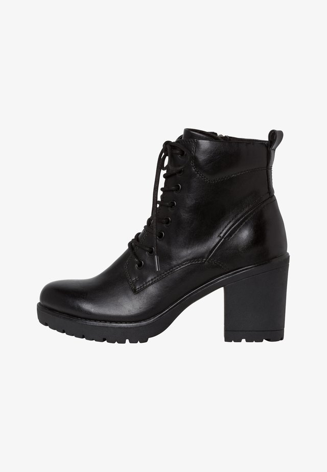 STIEFELETTE - High heeled ankle boots - black antic
