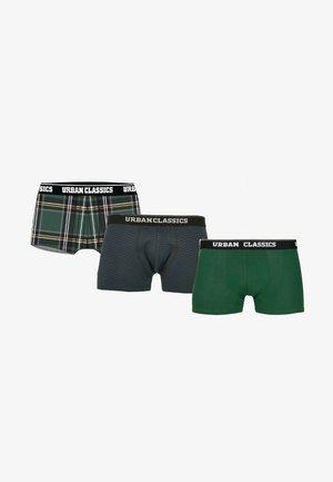 BOXER SHORTS 3-PACK - Pants - dgrn plaidaop+btlgrn/dblu+dgrn