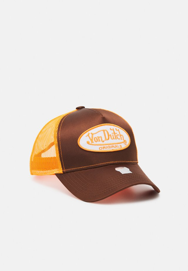 TRUCKER UNISEX - Cappellino - brown/orange