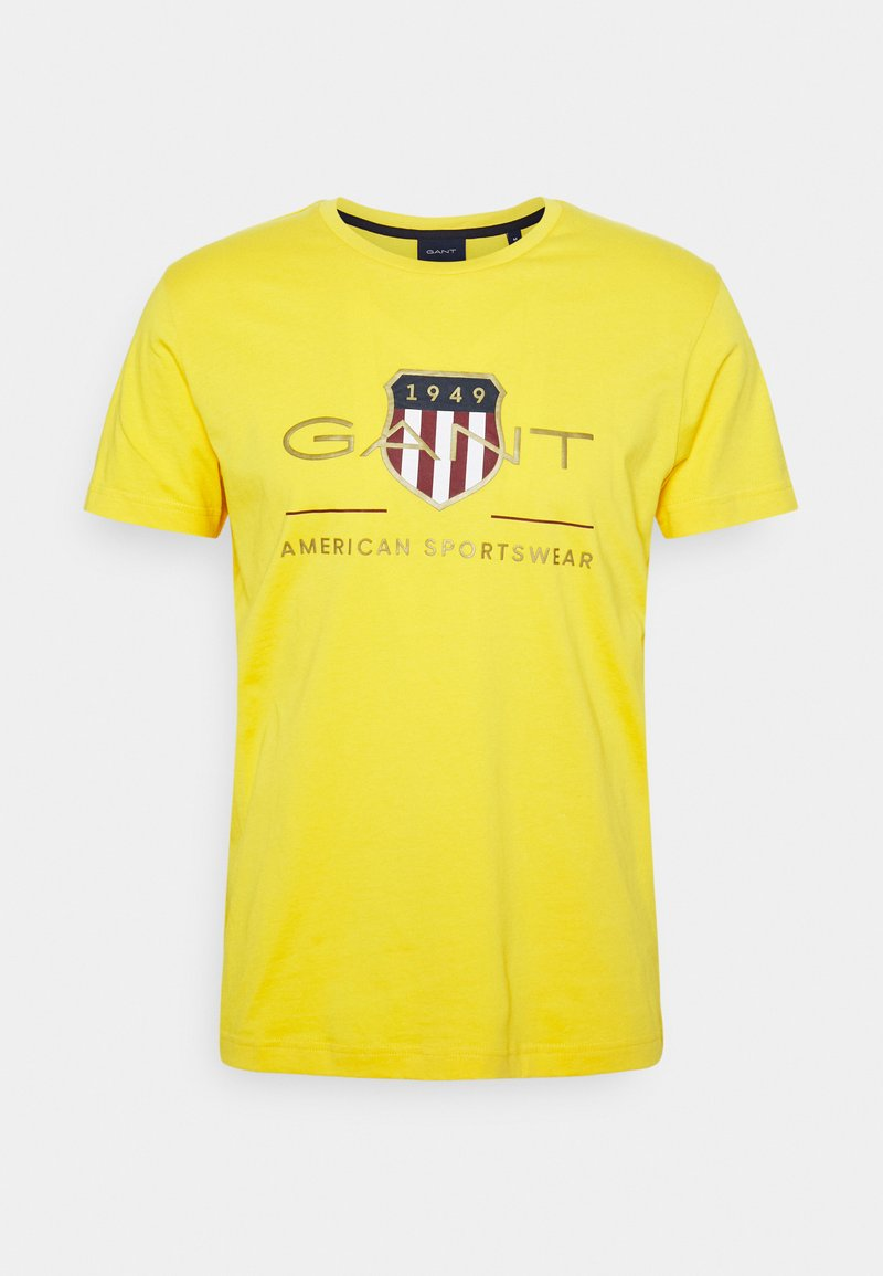 GANT - ARCHIVE SHIELD - T-shirt med print - solar power yellow