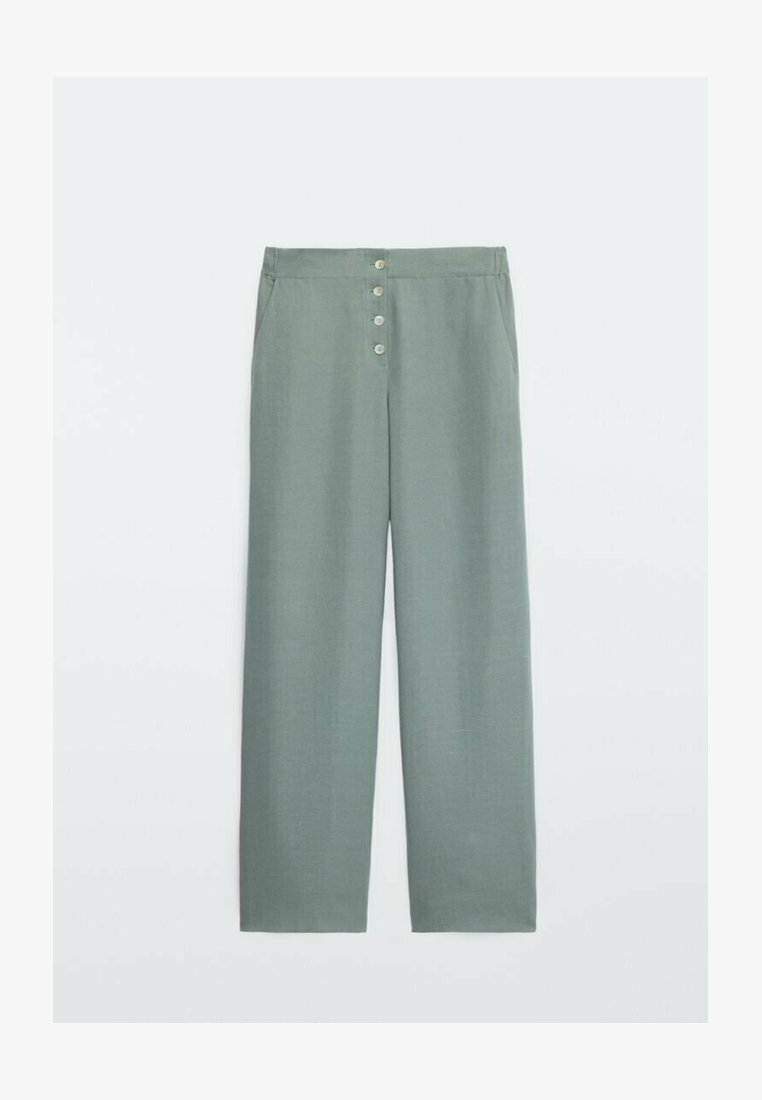 Massimo Dutti - FLIESSENDE - Spodnie materiałowe - green
