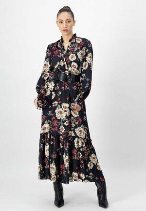 Maxi dress - schwarz druck