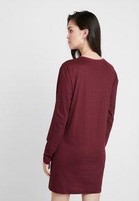 Wemoto - CODE - Jersey dress - black/dark red - 2