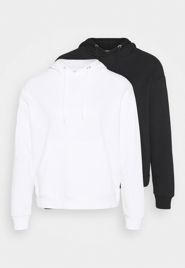 BOXY HOODY WITH POCKET 2 PACK - Hoodie - black/white
