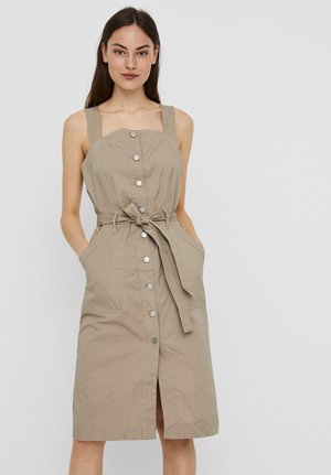 Shirt dress - silver mink