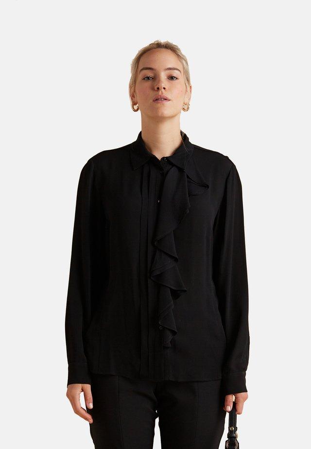 CON VOLANT - Camicia - nero