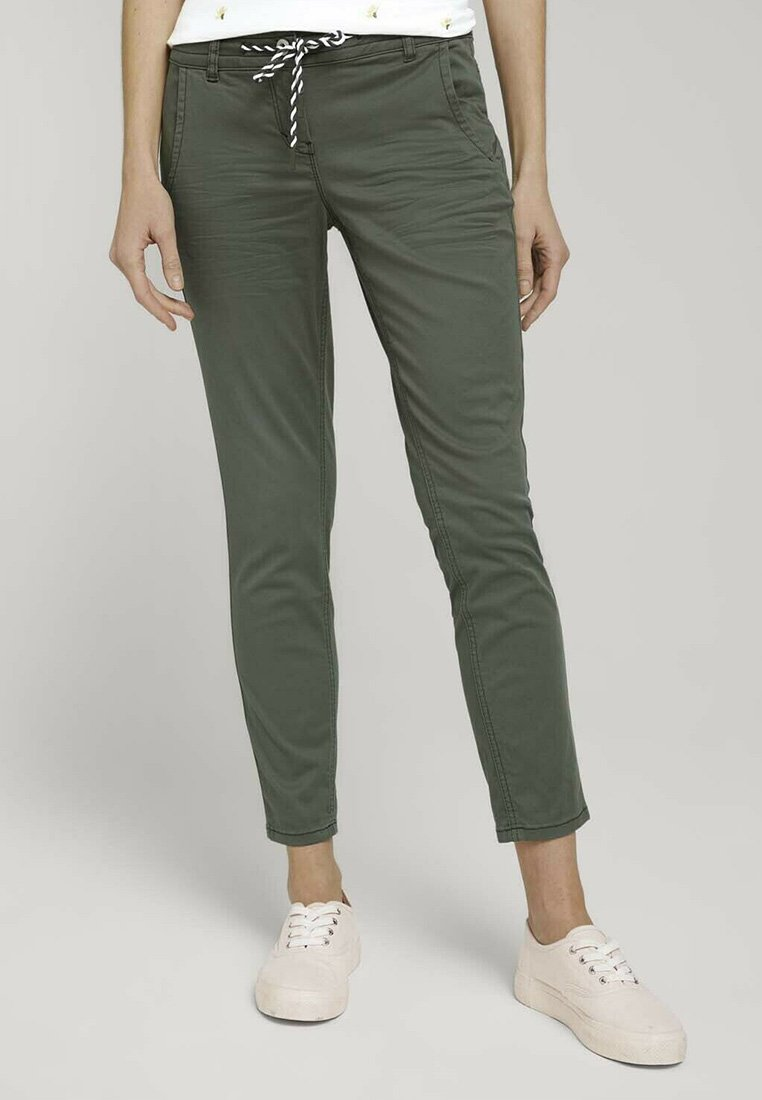 TOM TAILOR - Chinos - grape leaf green
