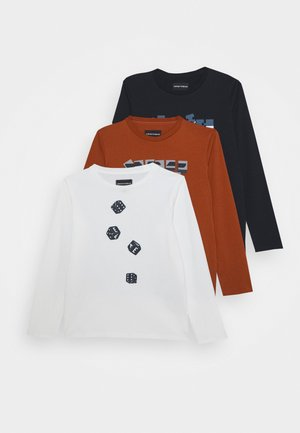 SET 3 PACK - Maglietta a manica lunga - blu navy