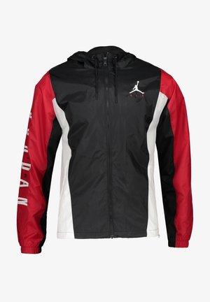 Zip-up sweatshirt - schwarzrot