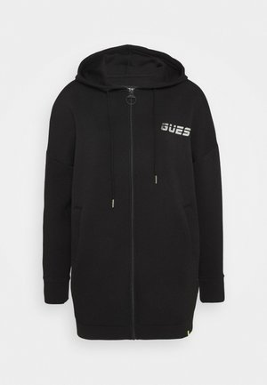 LONG JACKET ZIP - Zip-up hoodie - jet black
