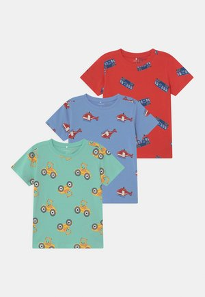 NMMBENDRIAN 3 PACK - Print T-shirt - high risk red