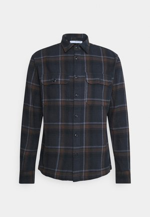 SLHLOOSEALFRED OVERSHIRT CHECK - Shirt - demitasse
