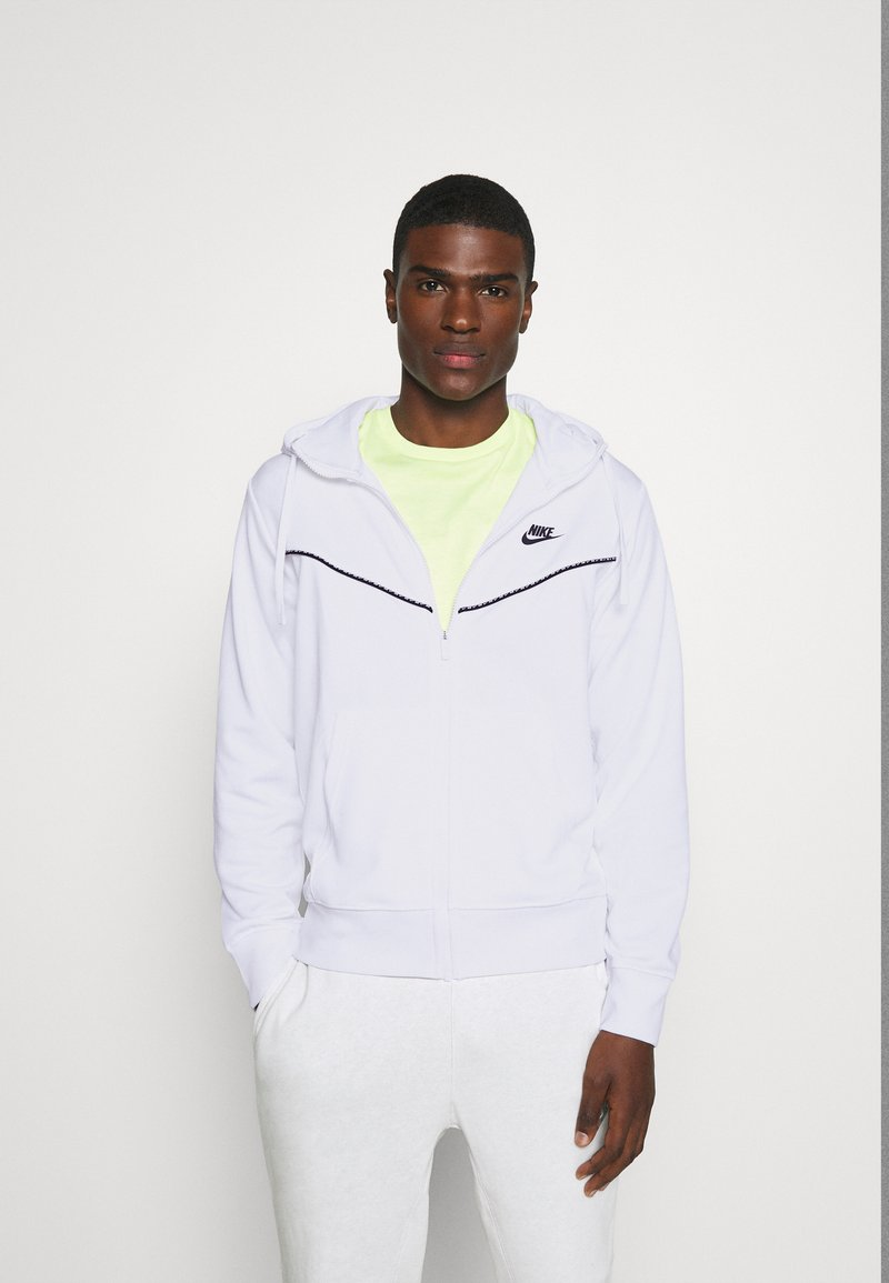 Nike Sportswear - REPEAT HOODIE - Zip-up hoodie - white