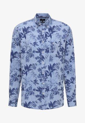 Shirt - blue navy flower